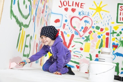Maling på væggen