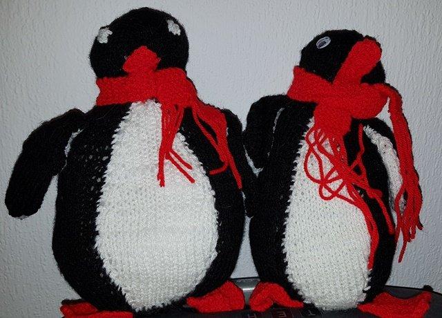 Hæklet pingvin - Velegnet til jul