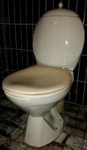 Hvid/Gul toilet