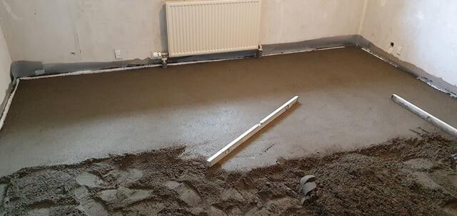 Så skal der støbes gulv